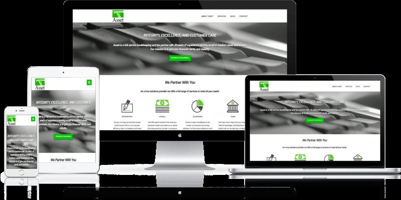 Asset Books and Tax Website Design