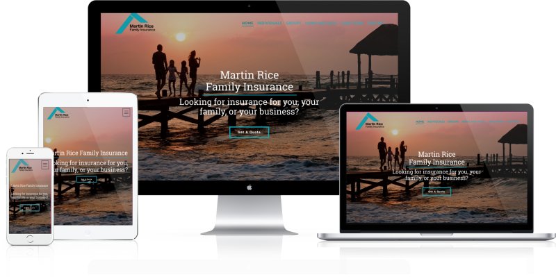 Martin Rice Family Insurance Website Design