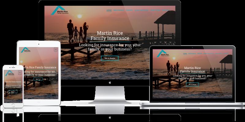 Martin Rice Family Insurance Website Design