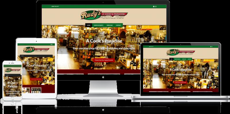 Rudys - A Cooks Paradise Website Design