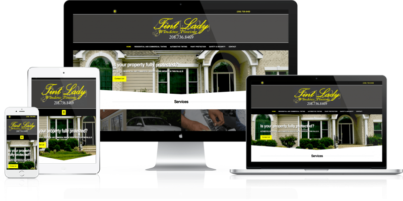 Tint Lady Window Tinting Website Design