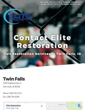 Elite Restoration Website Design Twin Falls ID