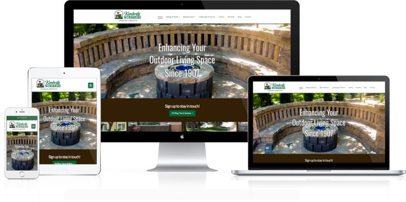 Kimberly Nurseries Website Design