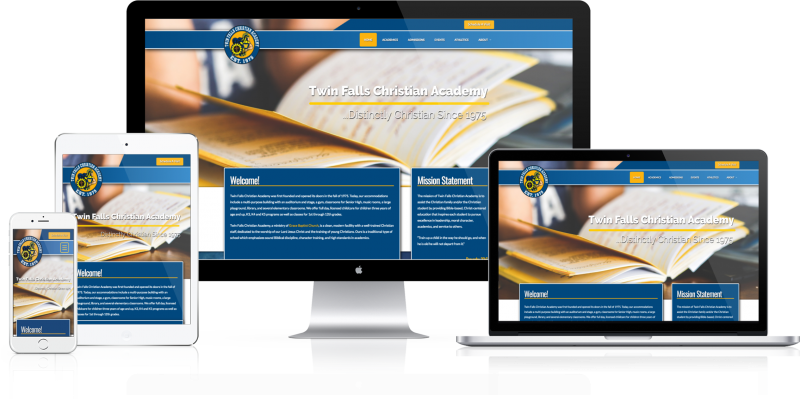 Twin Falls Christian Academy Website Design