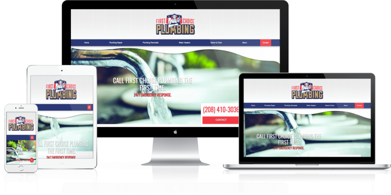 First Choice Plumbing Web Design