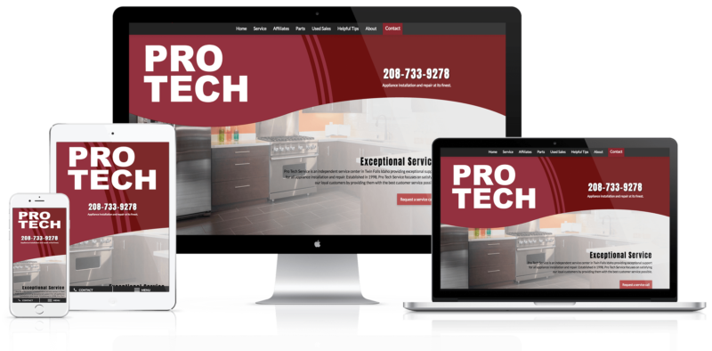 Pro Tech Website Mockup