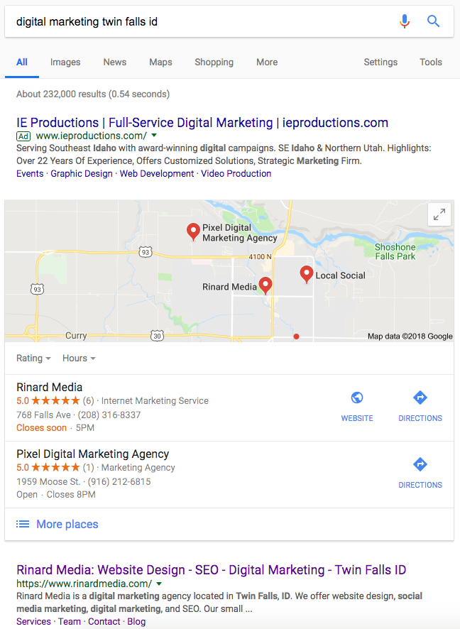 Google Search Engine Optimization Rinard Media